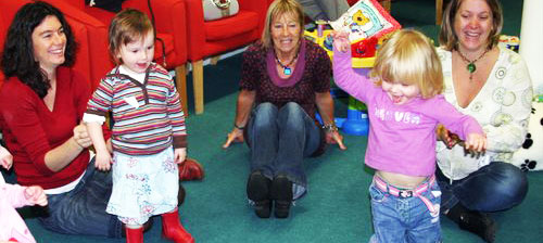 Children at Hullabaloo play group at Lymington Baptist Church